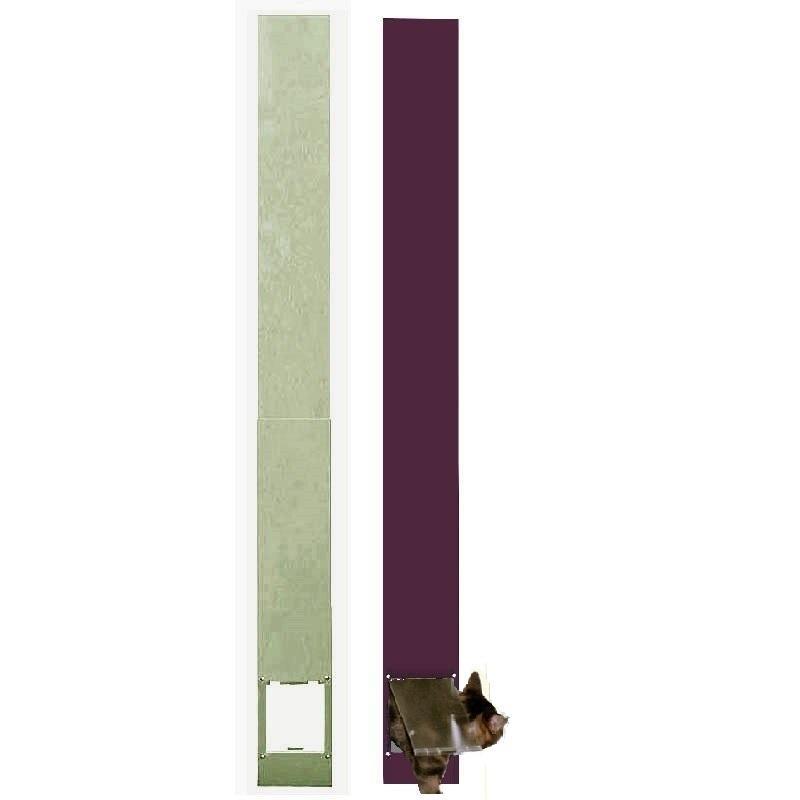【工事不要のサッシ取付猫用ドア】パネル キャットドア S型 [1500〜2300] スチール製