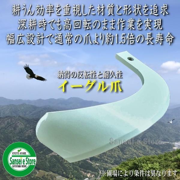 日本ブレード 「イーグル爪」 クボタ トラクター用 Vセンター 耕うん爪 28本組[N1-124-2N]