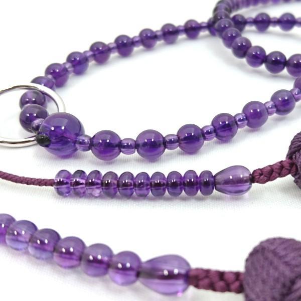【 数珠 】 浄土宗 女性用 本紫水晶 共仕立て 正絹房 桐箱入|sanshido-honten|04