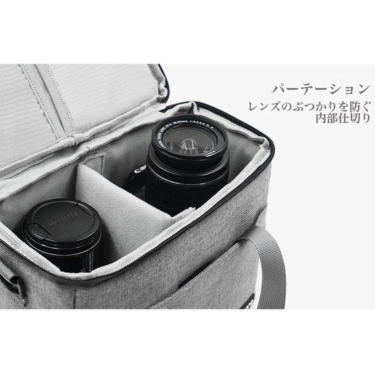 カメラバッグ 一眼レフ バッグ ショルダー カメラケース レンズ収納 おしゃれ|sansuiya|11