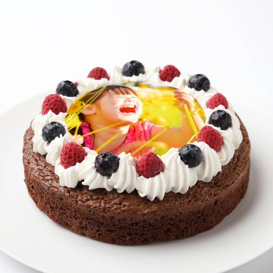 フォトケーキガトーショコラ5号15センチ:送料無料/プリントケーキ/写真入りケーキ/画像ケーキ/誕生日ケーキ/バースデーケーキ/記念日/敬老の日/サプライズ