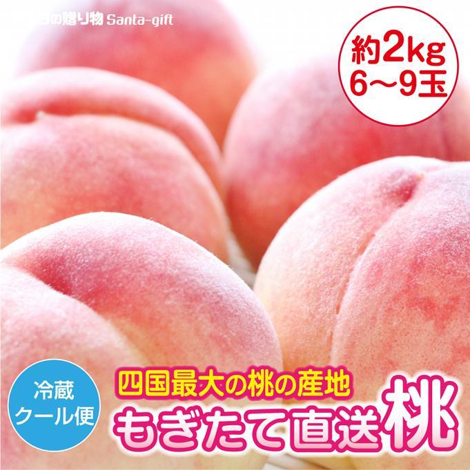 桃 もも 香川県産 6〜10玉 きれい 2kg お中元 3日営業日(日祝除く)以内に発送 贈答 産地直送