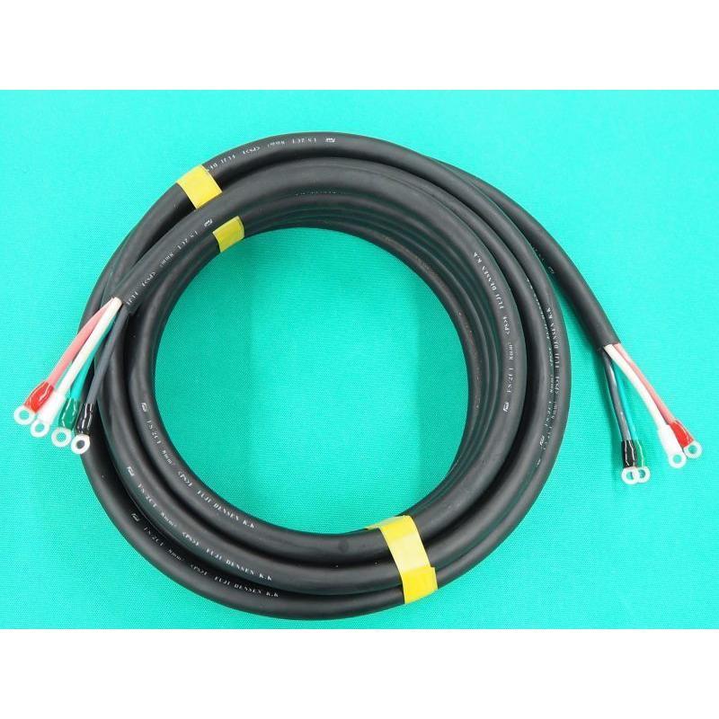 電源ケーブル 4芯-8mm2 / 両側端子付 10M (#35225)