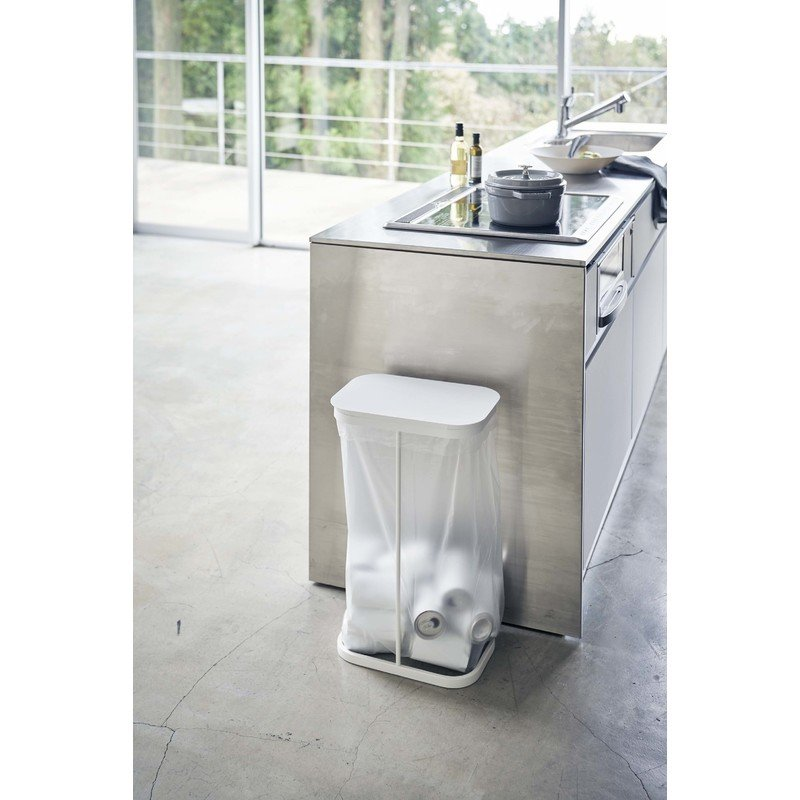 luce ルーチェ 横開き分別ゴミ袋ホルダー ホワイト 4907 ゴミ袋スタンド 45L ゴミ箱 ダストボックス ペットボトル 缶 白 GB-AC WH 04907-5R2 山崎実業|santecdirect|11