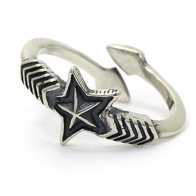 希少 黒入荷! コディサンダーソン CODY Ring SANDERSON Star Double Arrow Small Star Ring リング CODY シルバー925 インディアンジュエリー, 玉造町:5befc7df --- airmodconsu.dominiotemporario.com