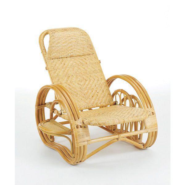 籐椅子 ラタンチェア 家具/アジアン家具 リクライニング座椅子 A-203 ブラウン色