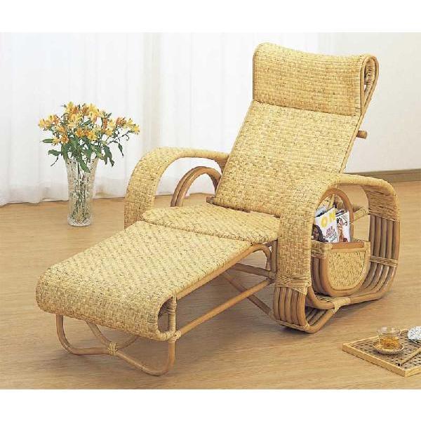 籐椅子 ラタンチェア 三つ折寝椅子 A107