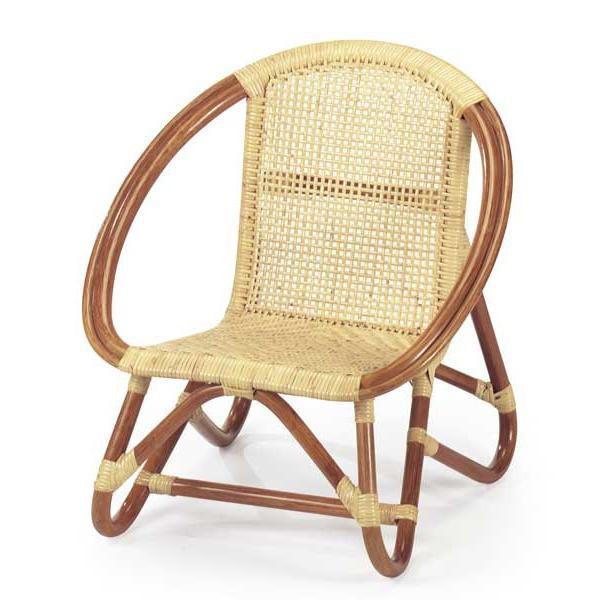籐(ラタン)ベビーチェア 子供椅子 ロータイプ BB-55A ナチュラル色 子供椅子 ロータイプ BB-55A ナチュラル色