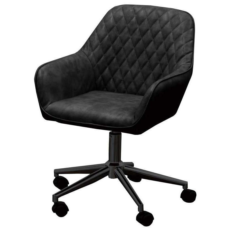 椅子 椅子 椅子 デスクチェア ワークチェア CL-360 ブラック色 組立式 360度回転 キャスター付 タブチェア 3f4