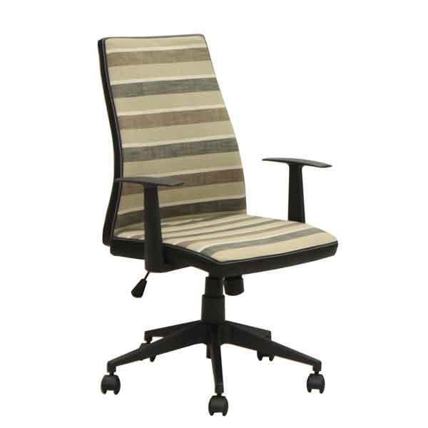オフィス、ワークチェア 肘掛付き 布張り回転デスクチェア CX-010BR ブラウン色 ブラウン色