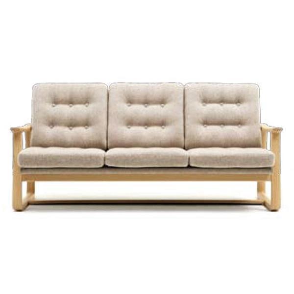 布張りソファ 木肘3人掛椅子 日本製 安心、信頼の国産品(日本製)です。