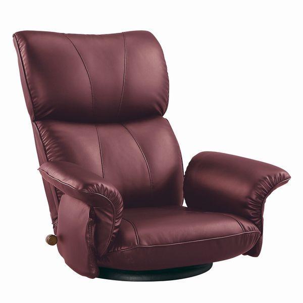 座椅子 座いす スーパーソフトレザー張り 肘付きリクライニング回転座椅子 匠(たくみ) YS-1396HR ワインレッド色 座いす スーパーソフトレザー張り 肘付きリクライニング回転座椅子 匠(たくみ) YS-1396HR ワインレッド色 座いす スーパーソフトレザー張り 肘付きリクライニング回転座椅子 匠(たくみ) YS-1396HR ワインレッド色 3a8