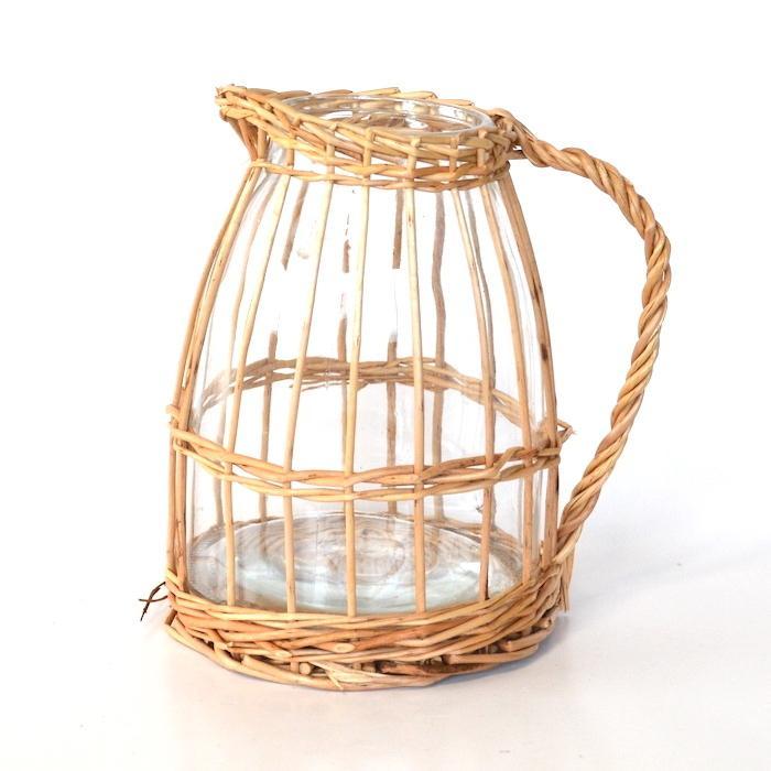 ウィローガラスピッチャーL 花瓶 ガーデニング 花器 フラワーベース インテリア おしゃれ 韓国インテリア シンプル 花びん sanwapotitto
