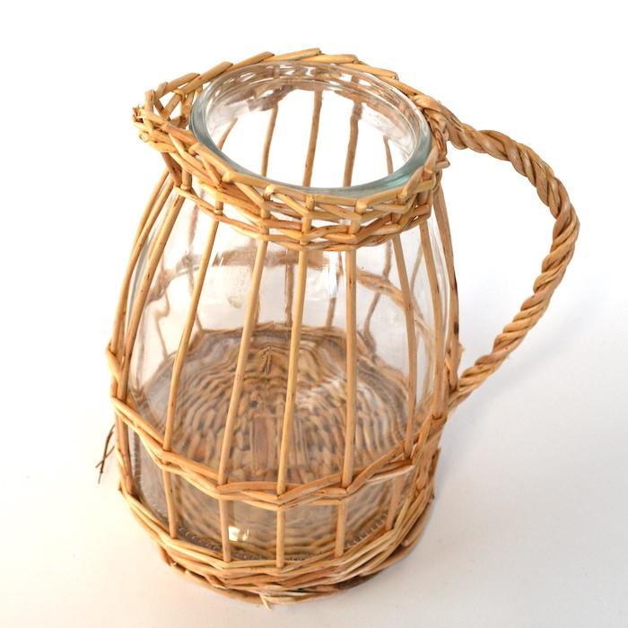 ウィローガラスピッチャーL 花瓶 ガーデニング 花器 フラワーベース インテリア おしゃれ 韓国インテリア シンプル 花びん sanwapotitto 07