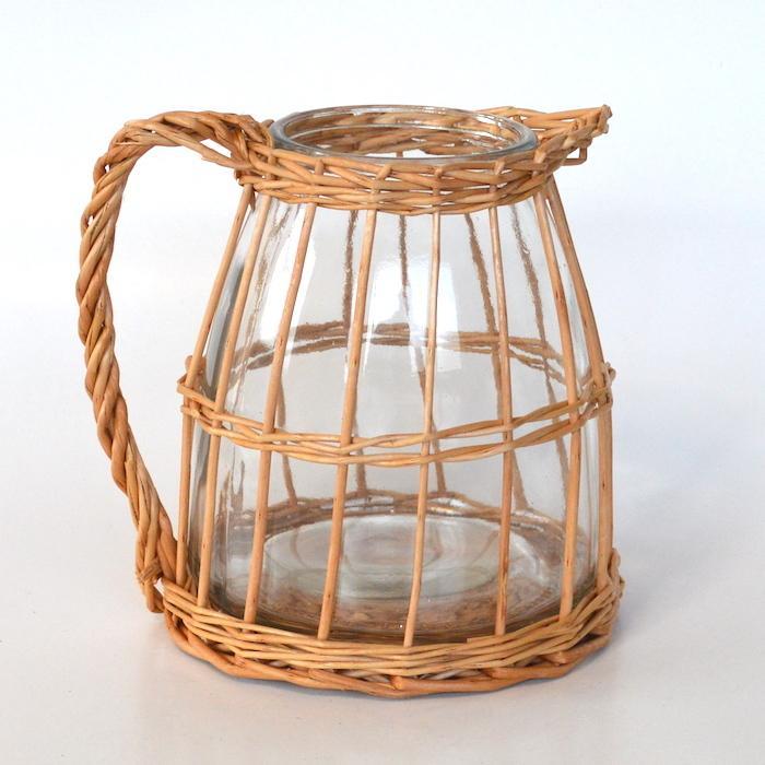 ウィローガラスピッチャーS 花瓶 ガーデニング 花器 フラワーベース インテリア おしゃれ カフェ風 インテリア シンプル 花びん sanwapotitto