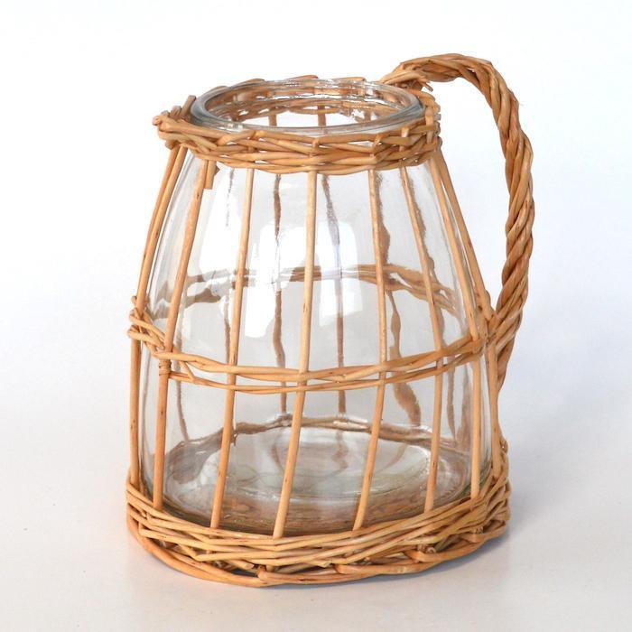 ウィローガラスピッチャーS 花瓶 ガーデニング 花器 フラワーベース インテリア おしゃれ カフェ風 インテリア シンプル 花びん sanwapotitto 05