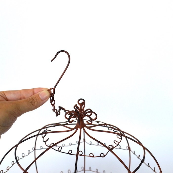 ハンギングワイヤーテラコッタプランター イングリッシュガーデン ビンテージ シンプル ガーデニング ヴィンテージ プランター ナチュラル|sanwapotitto|09