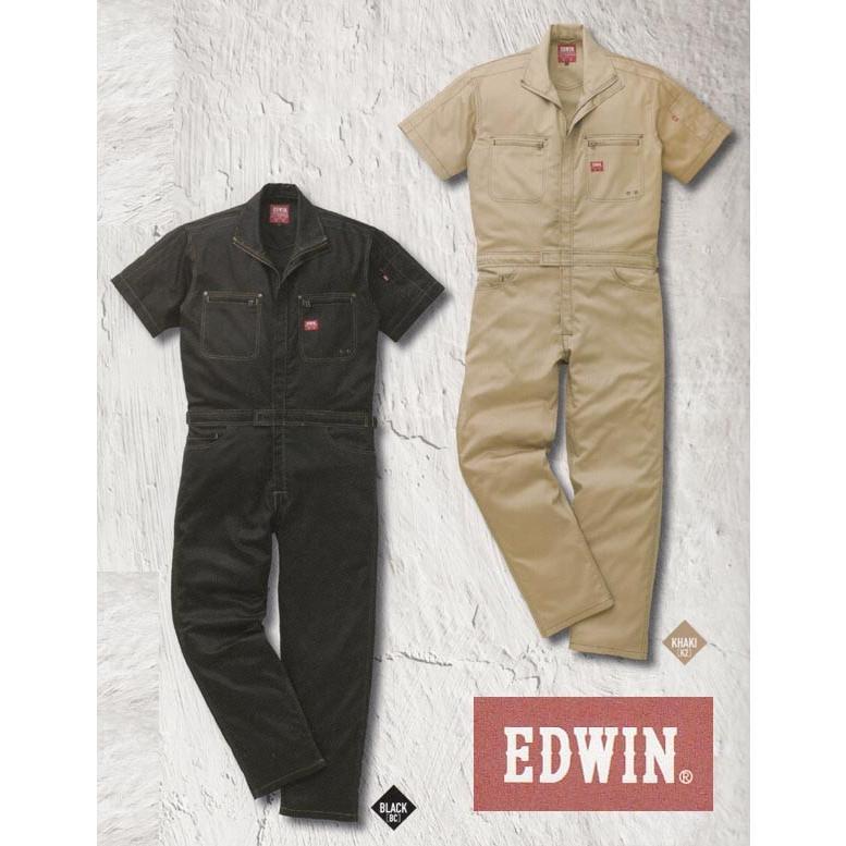 EDWIN エドウイン31-81001半袖オーバーオール つなぎ服 ストレッチ SALEセール
