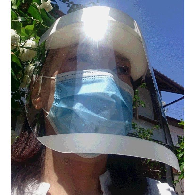 フェイスシールド  日本製  1個  フェイスガード  ノーマル 透明シールド  飛沫  ウィルス 医療 フェースシールド 国産 face shield guard protection 1pcs.|sanyosyoji|06