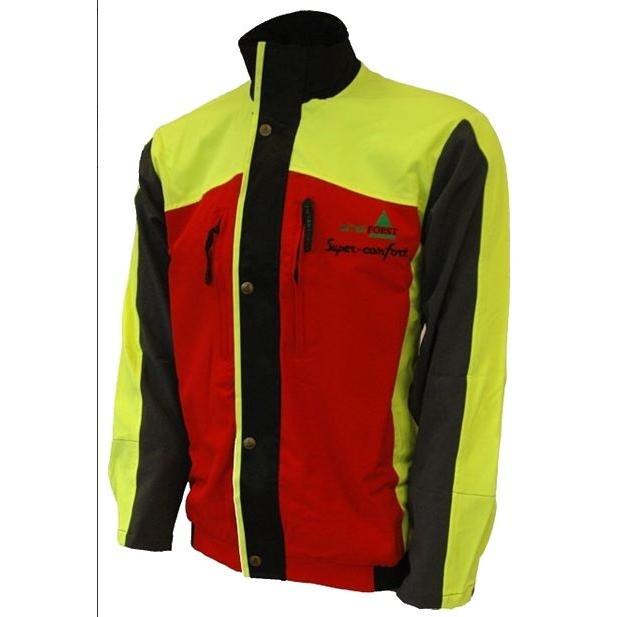 ジャケット 作業着 上着 オーストリア インターフォースト社製 スーパーコンフォート 赤 レッド 黄色 イエロー 林業|sanyosyoji