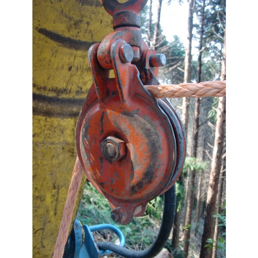林業集材用繊維ロープ 東京製綱繊維ロープ エースライン 12mm 50m 林業 集材 国内メーカー製 ロープ 安全 軽い 柔らかい 滑りがいい 簡単|sanyosyoji|04