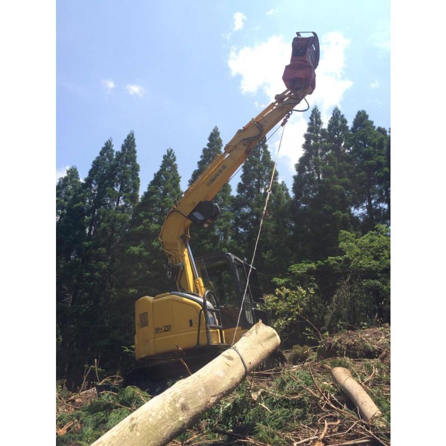 林業集材用繊維ロープ 東京製綱繊維ロープ エースライン 10mm 200m 林業 集材 国内メーカー製 ロープ 安全 軽い 柔らかい 滑りがいい 簡単|sanyosyoji|02