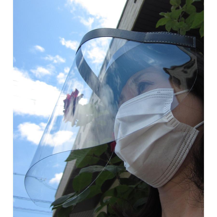 フェイスシールド  日本製  1個  フェイスガード ルーペ対応 透明シールド  飛沫  ウィルス 医療 フェースシールド 国産 face shield dentist 1pcs.|sanyosyoji|03