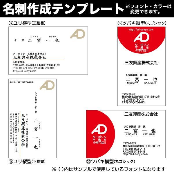 名刺 簡単注文 お値段以上 激安 仕事用 プライベート用 ペット用名刺 sanyu-kousan 07