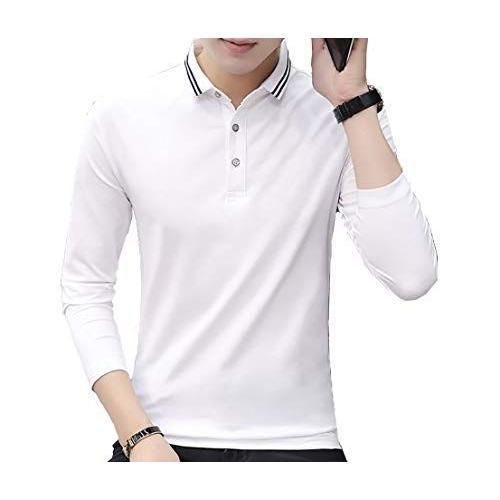[ Smaids x Smile(スマイズ スマイル) ] ポロシャツ 長袖 通気性 シャツ ゴルフウェア シンプル 襟 トップス メンズ|saoshop