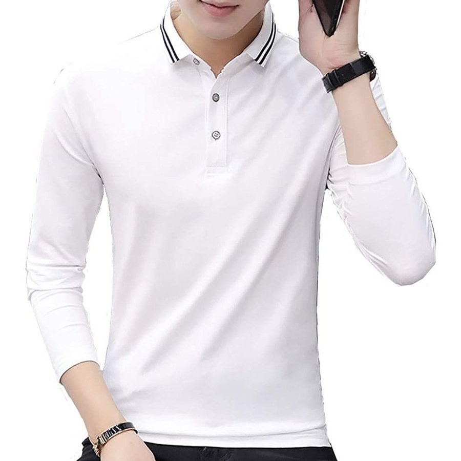 [ Smaids x Smile(スマイズ スマイル) ] ポロシャツ 長袖 通気性 シャツ ゴルフウェア シンプル 襟 トップス メンズ|saoshop|07