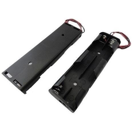 単三 4本 電池ボックス コード付 2個入 <bat-010> sapporo-boueki