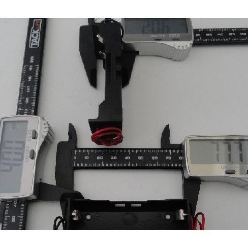 18650 2本 電池ボックス・電池ケース 長さ65mmまで コード付 約40.0×約77.7×厚約20.6mm 2個入 <bat-062> sapporo-boueki 02