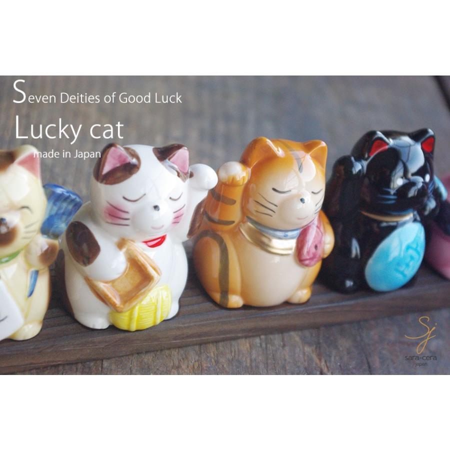 七福猫 金運 招き猫 縁起 ギフト箱入り 七福神 ねこ 猫 縁起物 置物 ギフト 開運 sara-cera 05