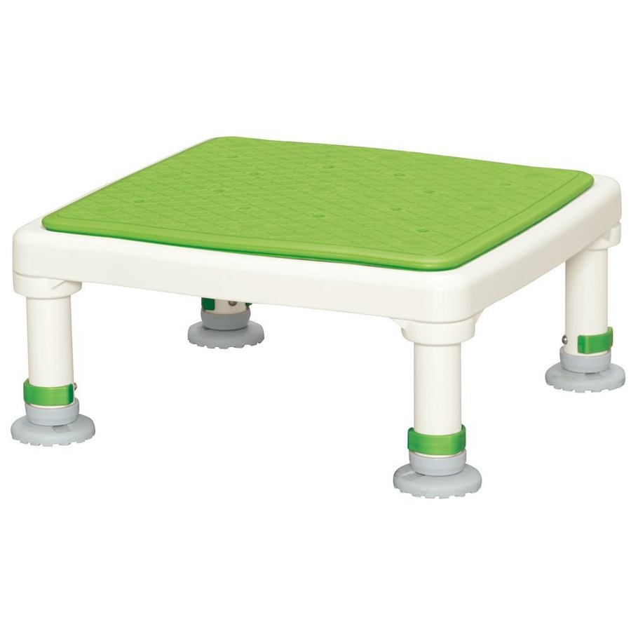 新しい季節 ジャストソフト あしぴたシリーズ グリーン 15-25 アルミ製浴槽台-介護用品