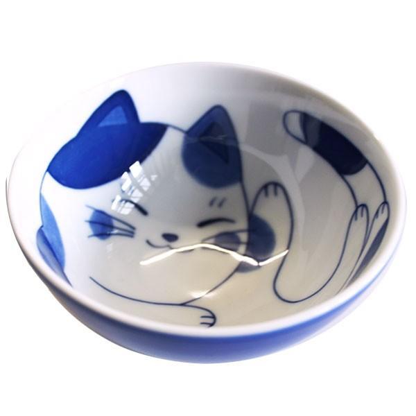 (業務用・茶碗)ねこちぐらミケG型茶椀(小)(入数:5) sarara-tt