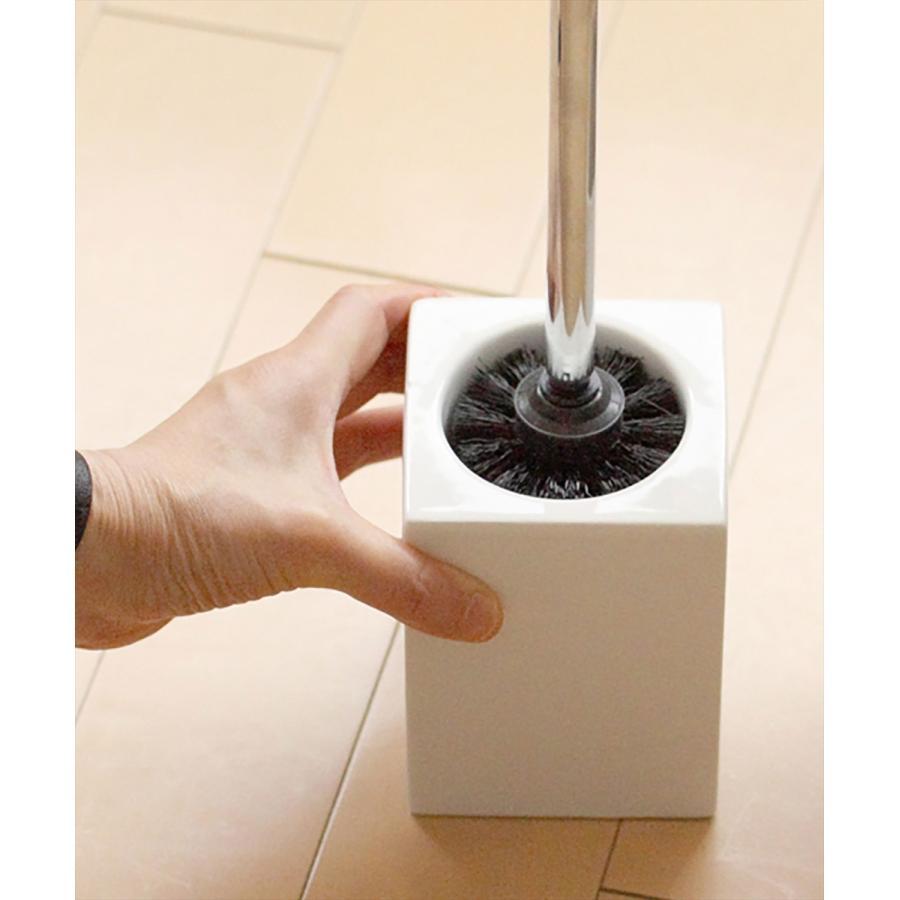 トイレ掃除 ホテルライク 陶器 セット [b2c セラミック トイレブラシ S]|sarasa-designstore|05