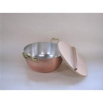 銅製 厚手 鎚目打 両手鍋 (18cm)カス揚付 sasagesj2358 02