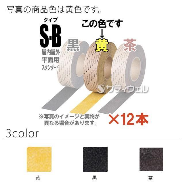 (送料無料)(受注生産品)3M セーフティ・ウォーク すべり止めテープ タイプSB 25mm×18m 12本セット