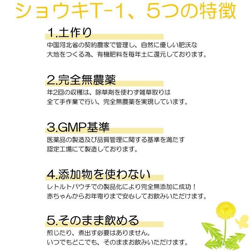 おまけ付 たんぽぽ茶 ショウキT-1プラス 30包 妊活 ノンカフェイン 無農薬 無添加 徳潤 satuma 06