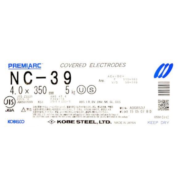 ステンレス用溶接棒 NC-39 ( 5kg ) KOBELCO 神戸製鋼 4.0x350mm PREMIARC