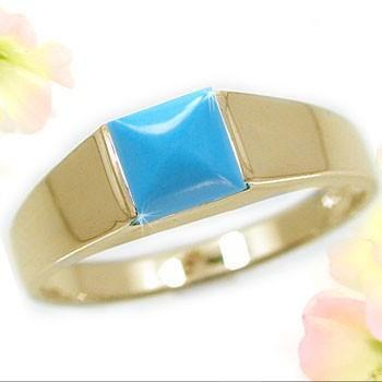 高品質の人気 K18YGイエローゴールド ターコイズ トルコ石 天然石 リング 指輪 12月誕生石, 多野郡:6e0e7ccc --- airmodconsu.dominiotemporario.com