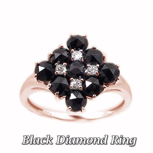 人気ブラドン K10PGピンクゴールド リング 指輪 ブラックダイヤ ダイヤモンド ローズカット ブライダル マリッジ 結婚指輪 天然石 誕生石, ISHIBASHI(カーペット) 8fd0ee70