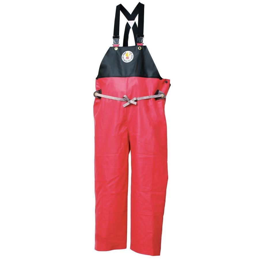 マリンエクセル(MARINE EXCELL) 産業用レインウェア ハイパーマリンエクセル プロ オーバーオール 12180411 レッド LL