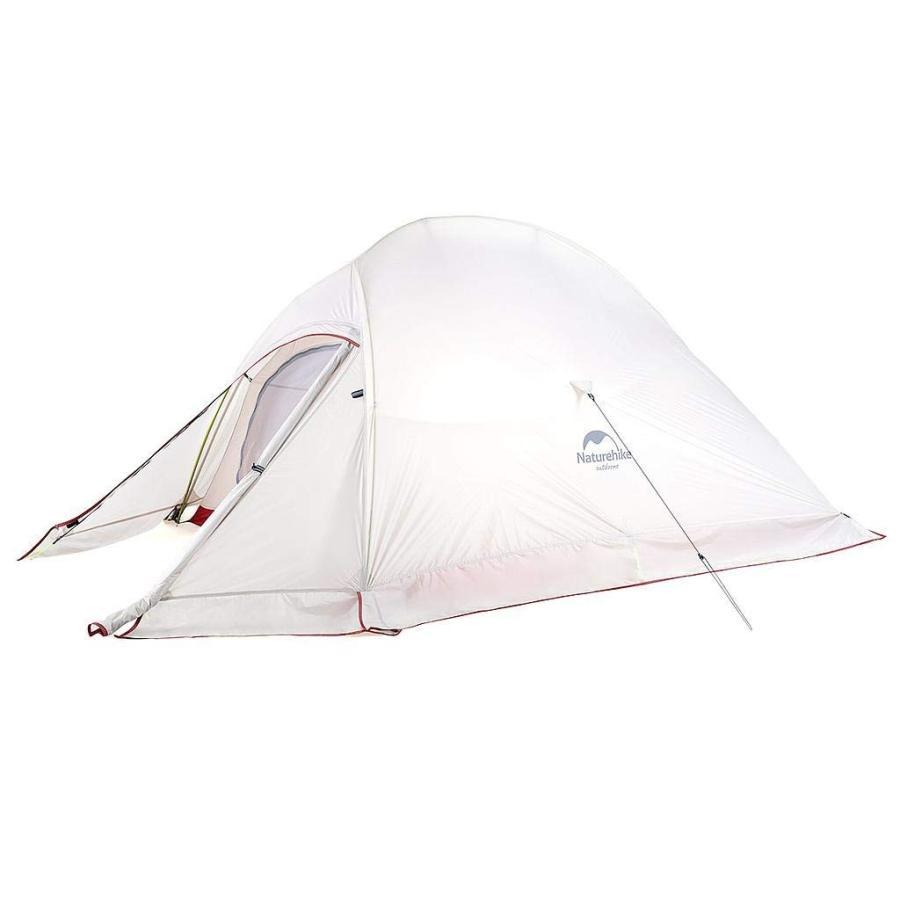 Naturehike 2人用 テント CloudUp2アップグレード版 自立式 超軽量 コンパクト 4シーズン 防風 防水 専用グランドシート/収納袋付 (グレー、20D、スカート付き)