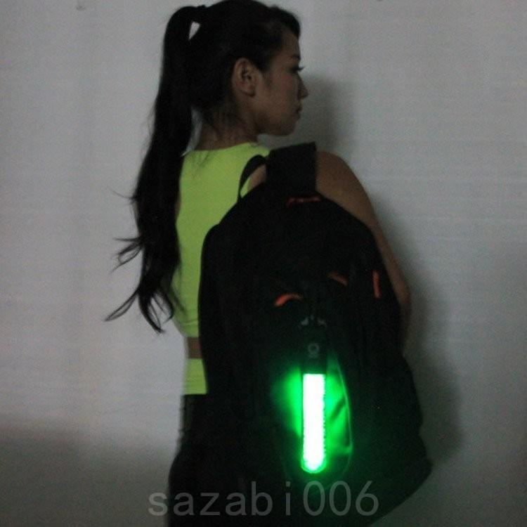 光るセーフティーライトLEDライトナイトマーカーフック付きキーホルダー防水リュックリフレクター反射板点滅通学夜間|sazabi006|03