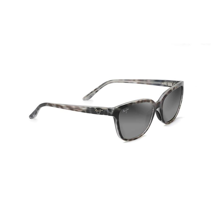 【初回限定】 Maui Jim Men's Polarized Honi GS758-11S Grey Cat Eye Sunglasses, 相良村 bb524d1c