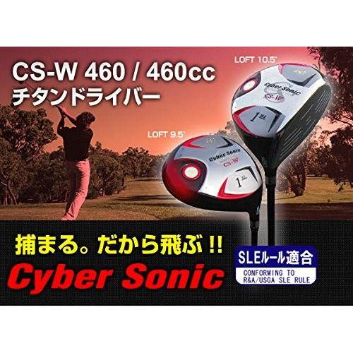 TEAM TOHO CS-W 460cc チタンドライバー 10.5° サイバーソニック ウェッジ ゴルフクラブ ロフト:10.5°R(標準