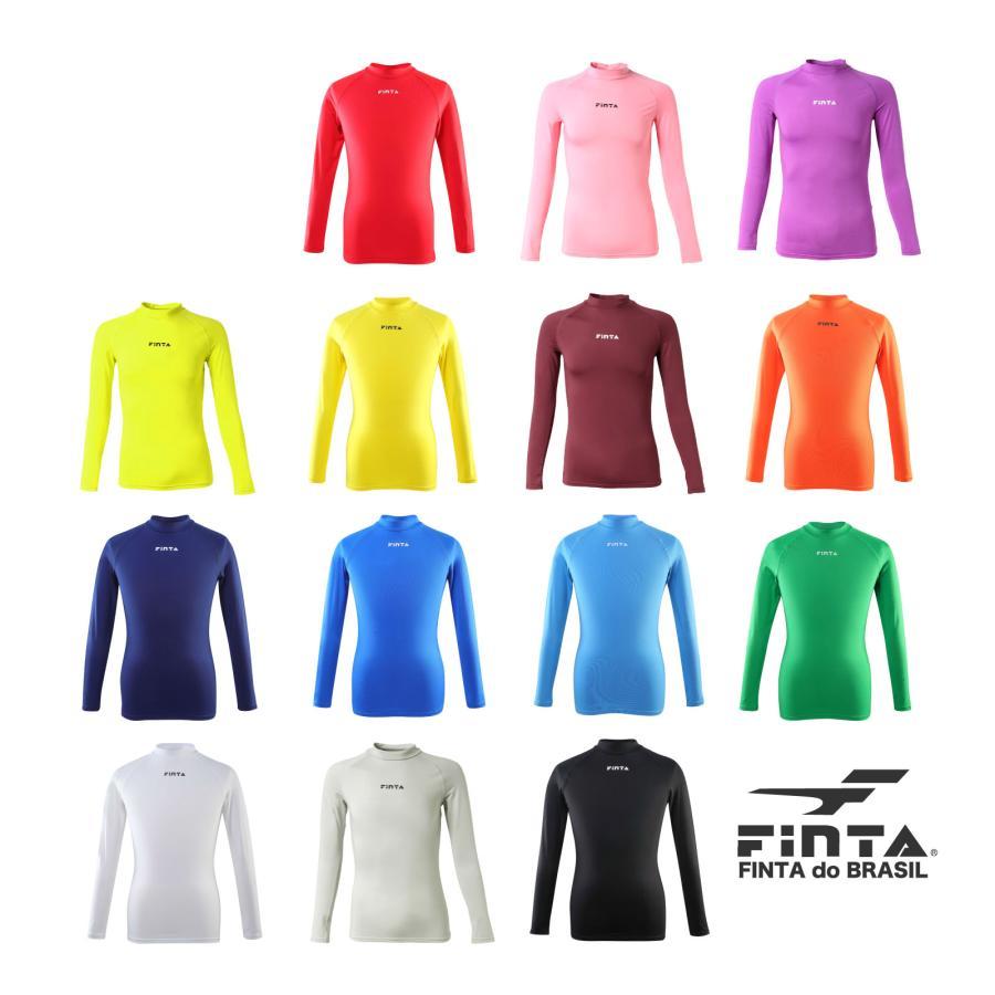送料無料 フィンタ FINTA サッカー フットサル ジュニア ハイネックインナーシャツ FTW7028 全14色 sblendstore