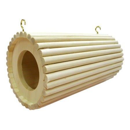 円筒巣箱 倉庫 人気激安 吊り下げタイプ 齧って安心のアスペン素材