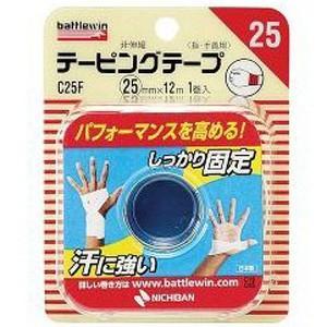 バトルウィン テーピングテープ 指 手首用 定価 非伸縮タイプ 25mm×12m 1巻入 無料